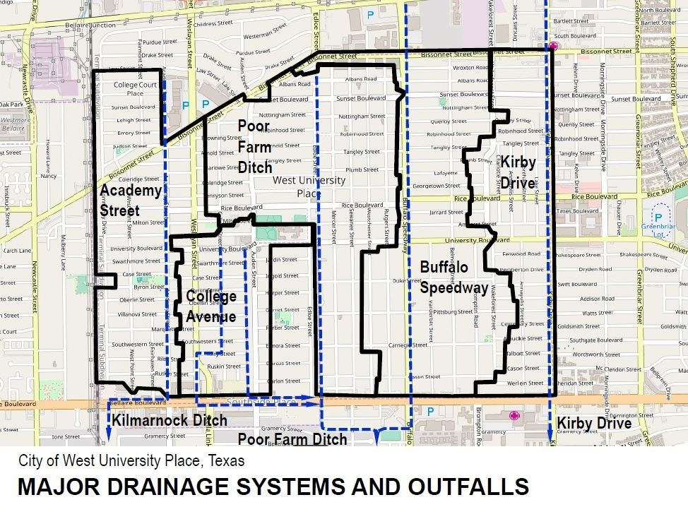 Major Drainage Systems and Outfalls