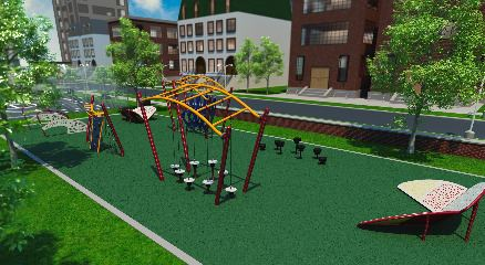 Colonial Park Challenge Course Rendering